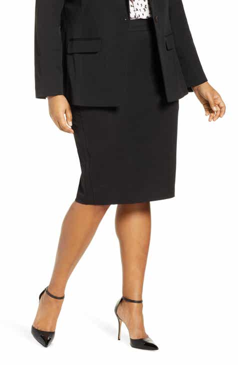 ELOQUII Stretch Pencil Skirt (Plus Size) by ELOQUII