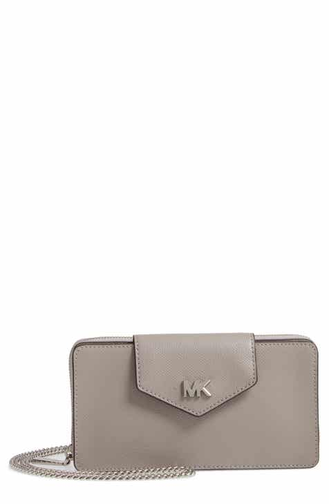 1e0b0815007acf MICHAEL Michael Kors Small Convertible Leather Wallet on a Chain