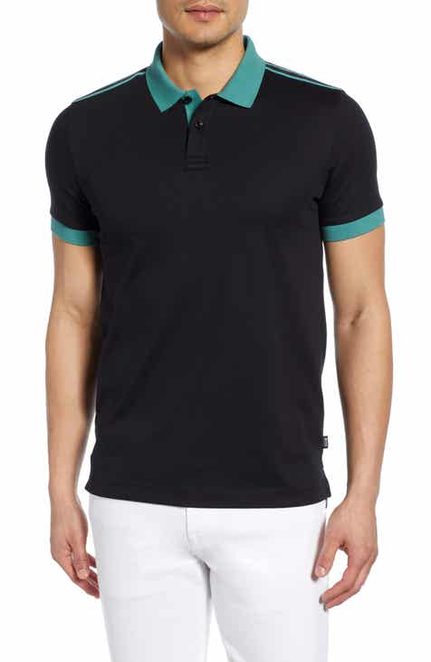 ff2cb467 HUGO Phillipson Taped Slim Fit Polo