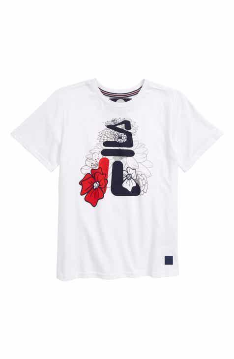1cd91a088f2b FILA Flower Logo T-Shirt (Little Boys   Big Boys)
