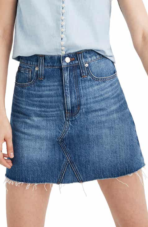 6d9780907b0c Madewell Eco Edition Rigid Denim A-Line Miniskirt