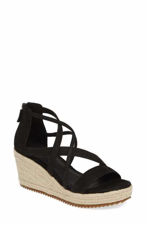 efb6da74a20 Eileen Fisher Wanda Cross Strap Wedge Sandal (Women)
