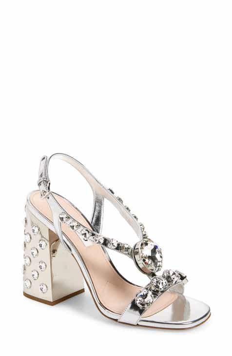 c03f0671f Miu Miu Jewel Block Heel Sandal (Women)