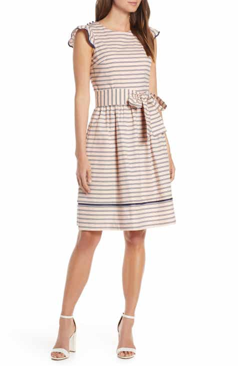 1901 Stripe Fit & Flare Dress by 1901