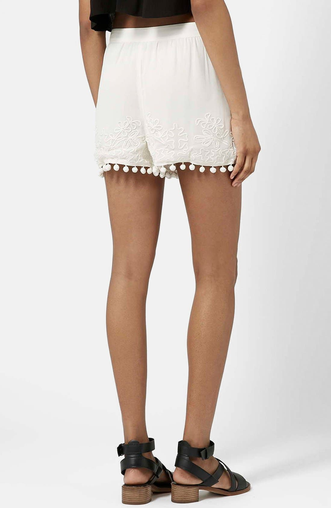 Alternate Image 2  - Topshop Pompom Shorts