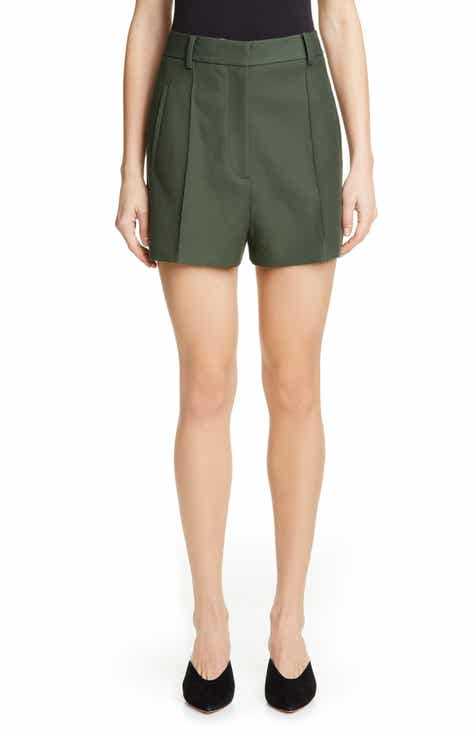 Khaite Casey Pintuck Shorts by KHAITE