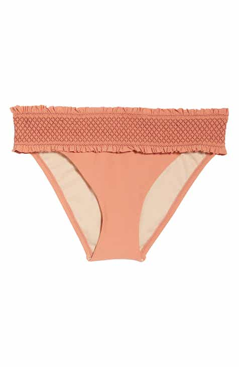46a9f7a9c4 Chelsea28 Smocked Hipster Bikini Bottoms