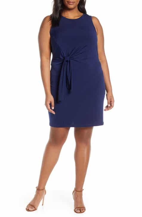 MICHAEL Michael Kors Side Tie Tunic Dress (Plus Size)
