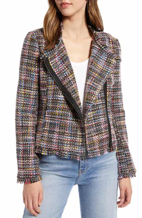 Halogen® Tweed Moto Jacket (Regular, Petite & Plus Size) by HALOGEN