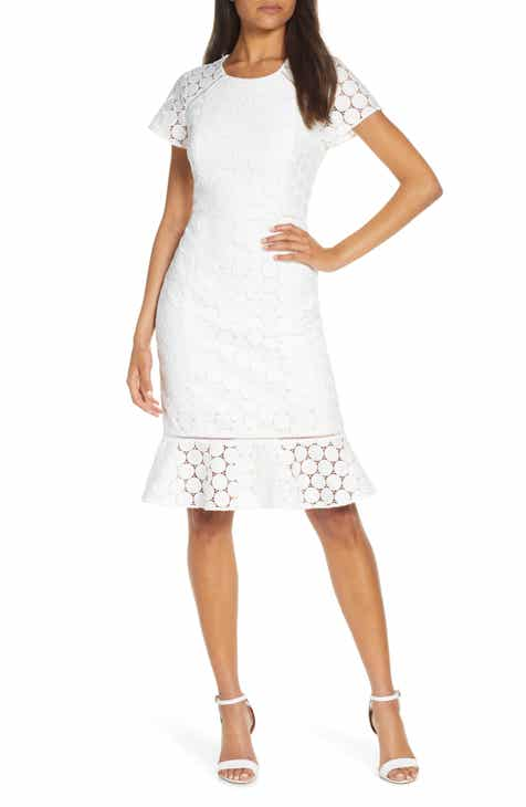 Lilly Pulitzer® Aliza Polka Dot Lace Shift Dress