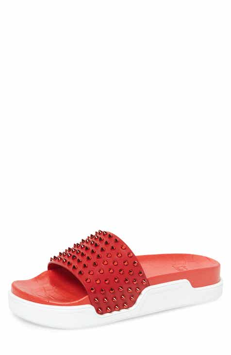b4fcc7e18 Christian Louboutin Pool Fun Sport Slide (Men)