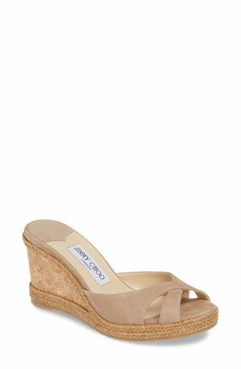 204d4448e10fa Jimmy Choo Almer Cork Wedge Sandal (Women)
