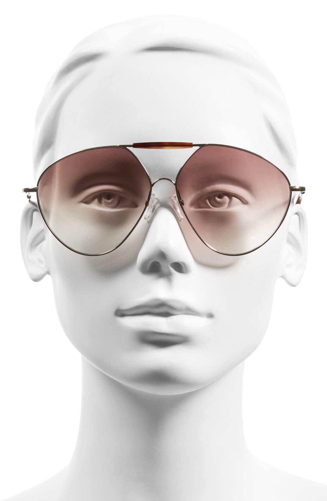 Alternate Image 2  - Valentino 'Runway' 62mm Aviator Sunglasses