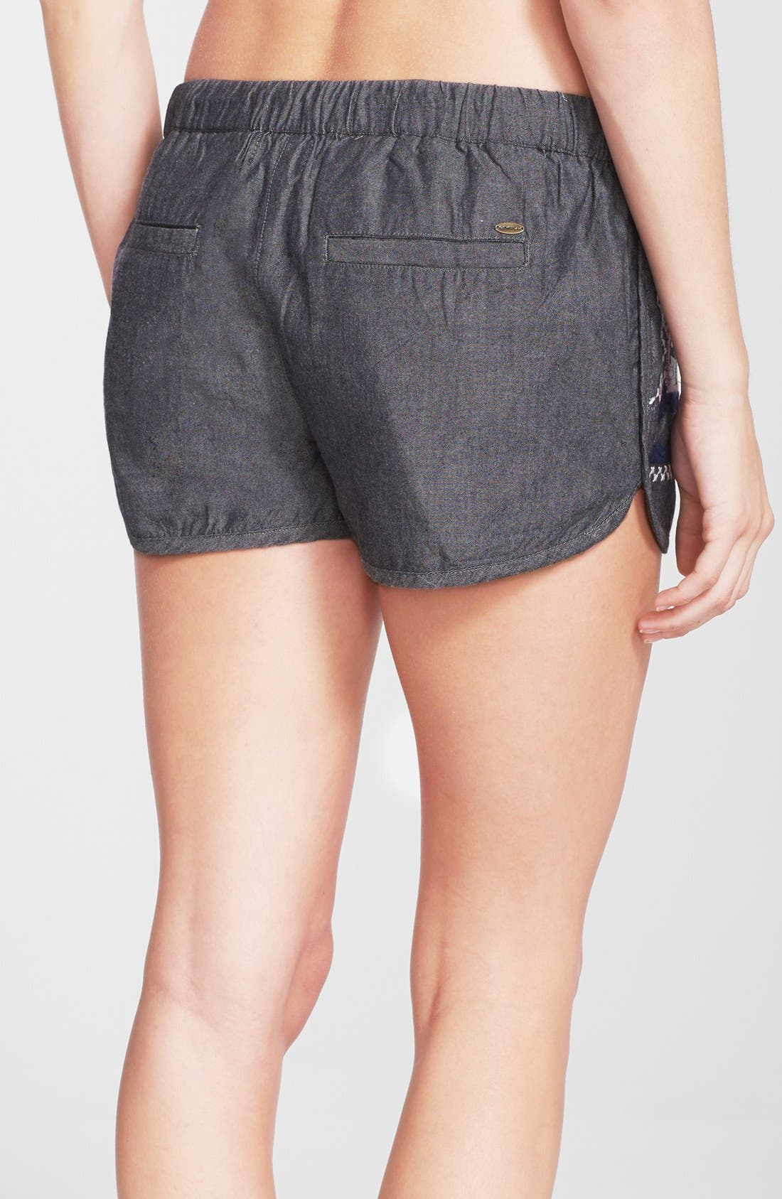 Alternate Image 2  - Anna Sui for O'Neill 'Eureka' Embroidered Cotton Cover-Up Shorts