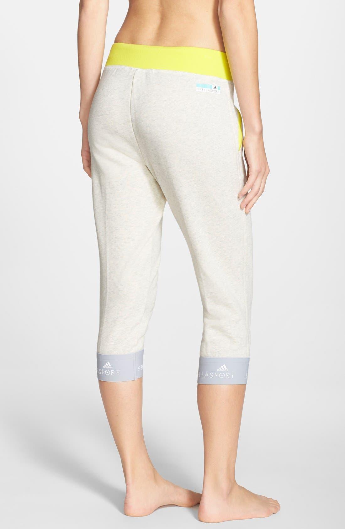 Alternate Image 2  - adidas by Stella McCartney Crop Cotton Sweatpants