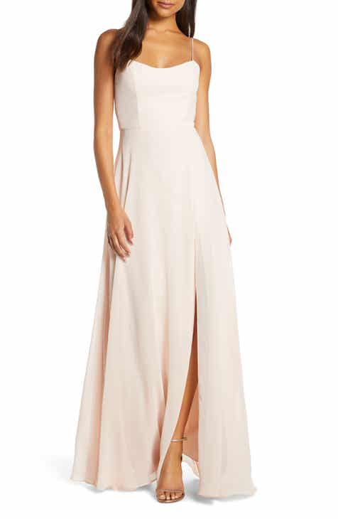 7fe38dcd0f21 Jenny Yoo Kiara Bow Back Chiffon Evening Dress