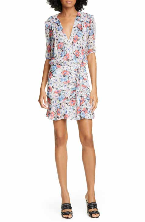 5faac5d03b Veronica Beard Dakota Ruched Floral Print Silk Dress