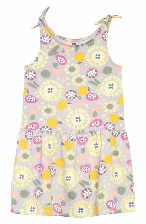 36ccc3e26e27 Tea Collection Print Tie Shoulder Dress (Toddler Girls, Little Girls & Big  Girls)