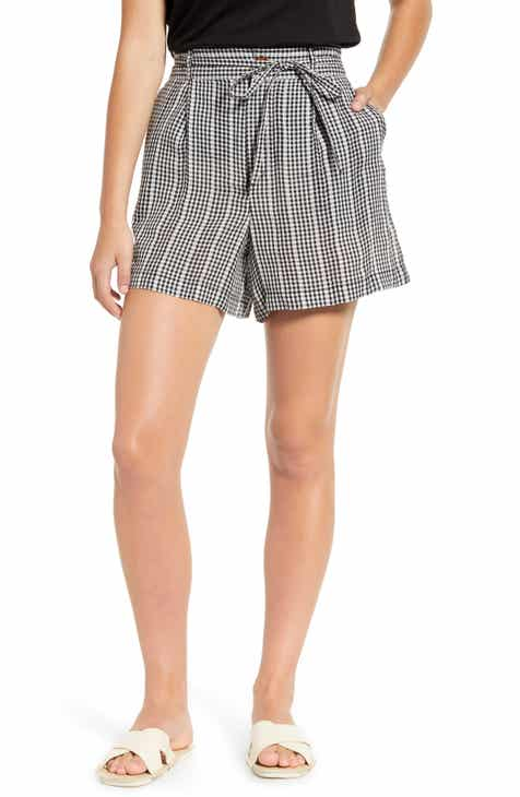 CeCe Metallic Stripe Tie Waist Shorts by CECE