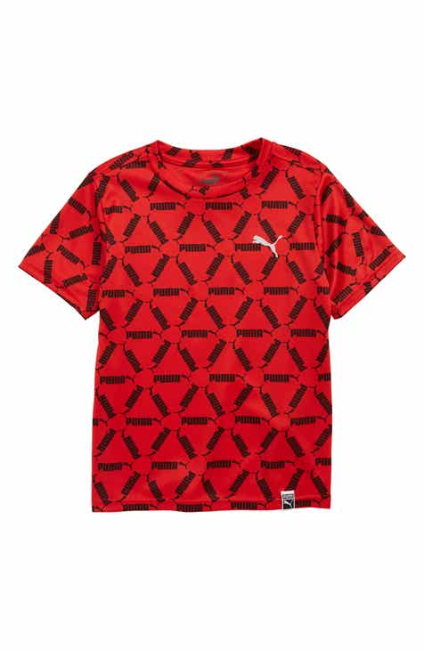 be73e8c6cb PUMA Logo Graphic Interlock Performance T-Shirt (Big Boys)