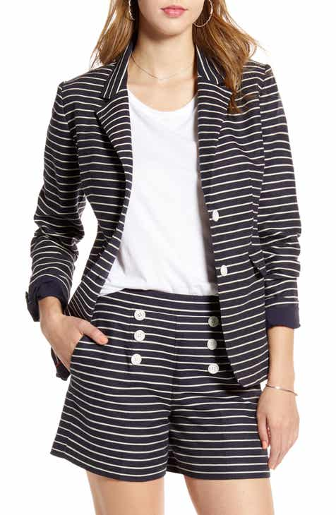 1901 Braided Stripe Cotton & Linen Blazer (Regular & Petite) by 1901