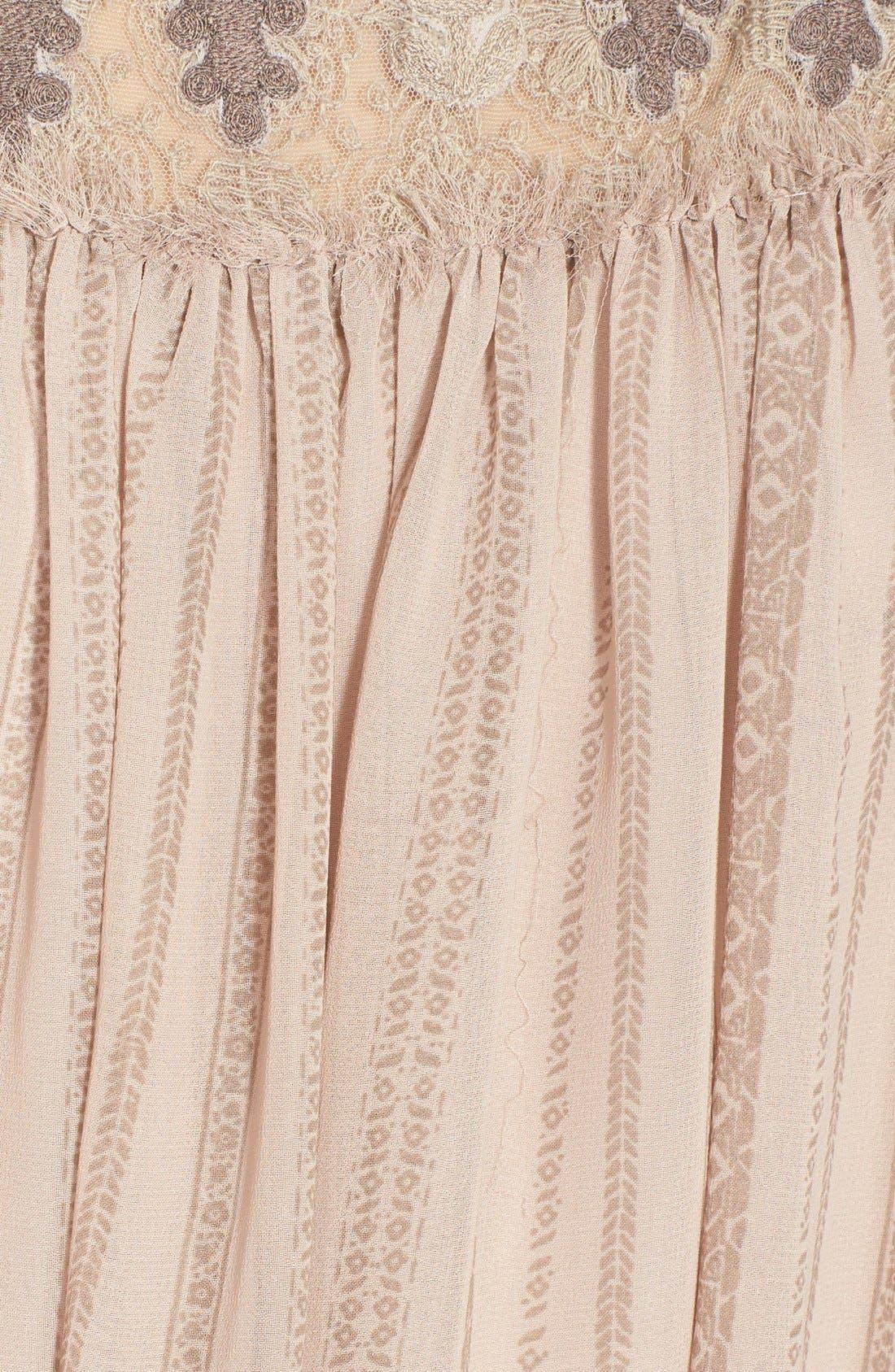 Alternate Image 3  - Free People Embroidered Yoke Print Babydoll Dress