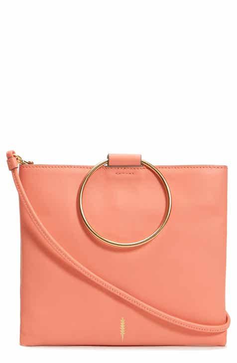 premium selection 71b7a 30770 THACKER Le Pouch Leather Ring Handle Crossbody Bag