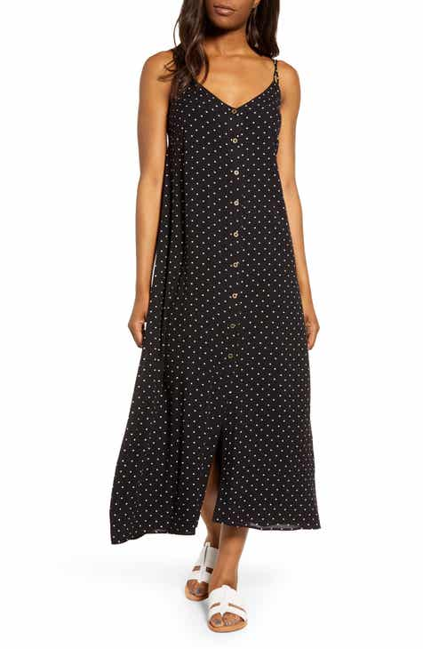 3f754d45c Gibson x The Motherchic Al Fresco Strappy Button Up Midi Sundress (Regular    Petite).  86.00. (9). Product Image. WHITE BLACK POLKA DOT