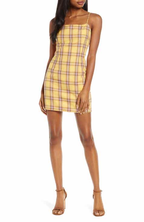 BB Dakota Sleeveless Plaid Minidress