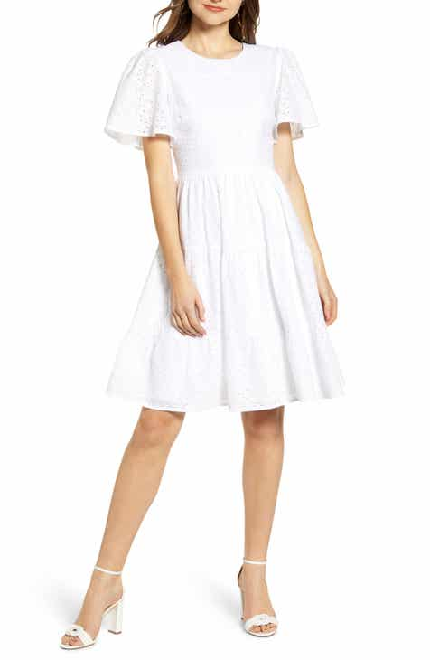 399f3a4fb85 Rachel Parcell Mixed Eyelet A-Line Dress (Nordstrom Exclusive)