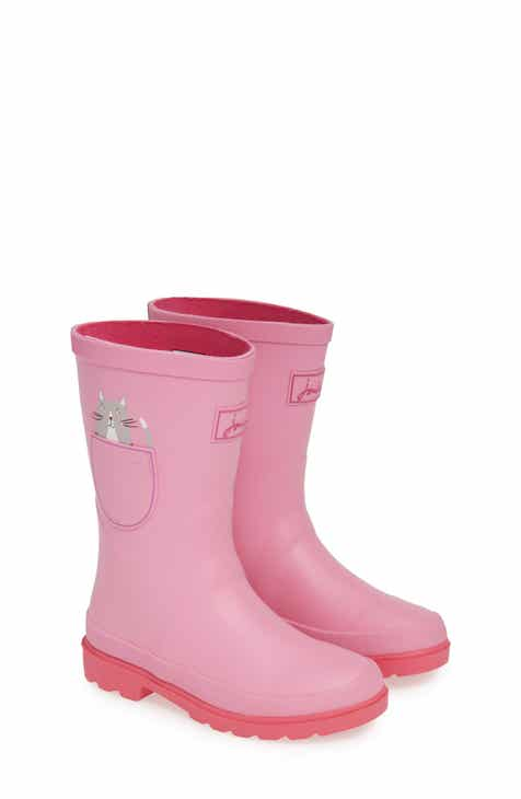 4a9769458 Joules Mid Height Print Welly Waterproof Rain Boot (Toddler, Little Kid &  Big Kid)