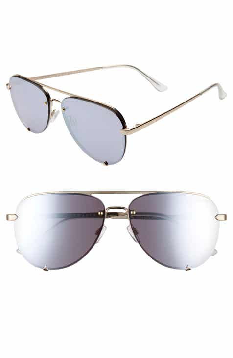 3661b6a57facb Quay Australia x Desi Perkins High Key Mini 53mm Rimless Aviator Sunglasses