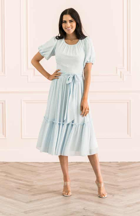 Rachel Parcell Gingham Puff Sleeve Dress Nordstrom Exclusive