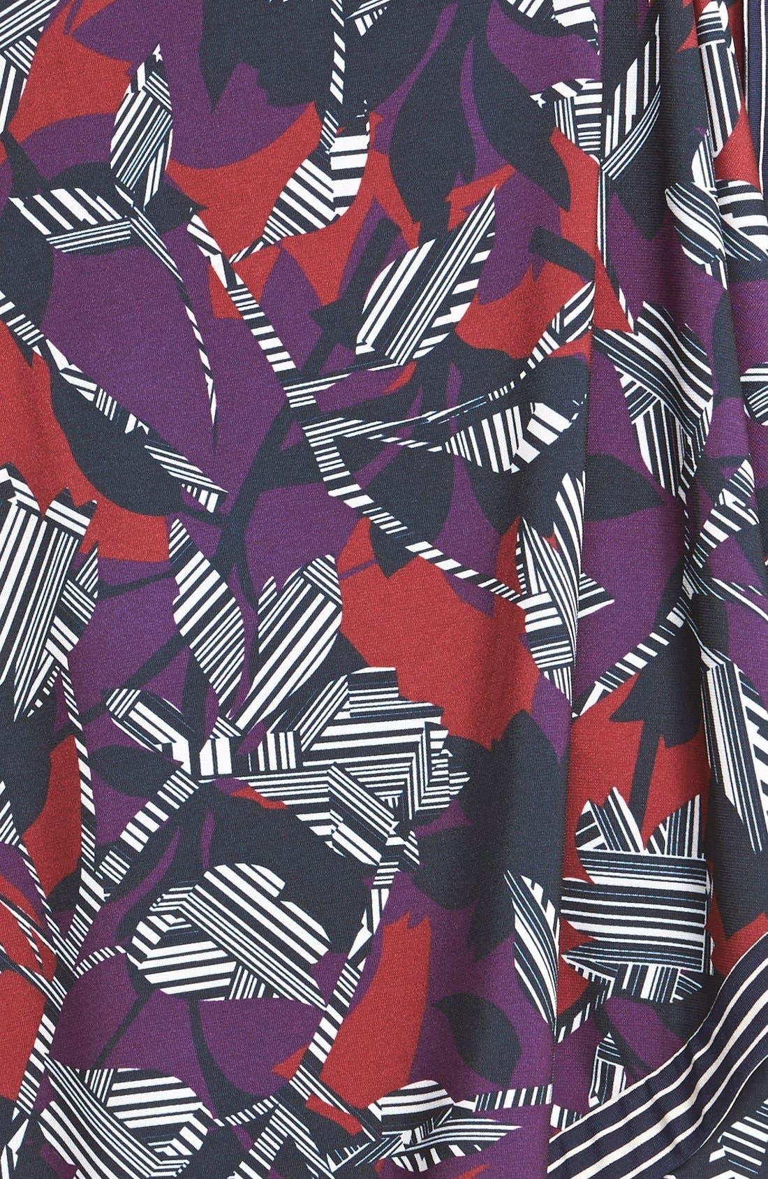 Alternate Image 4  - BCBGMAXAZRIA 'Adele' Print Matte Jersey Wrap Dress