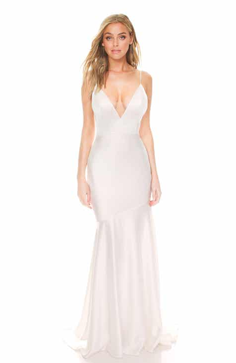 d5c1b35569e Noel and Jean by Katie May Reflection Bias Cut Satin Wedding Dress