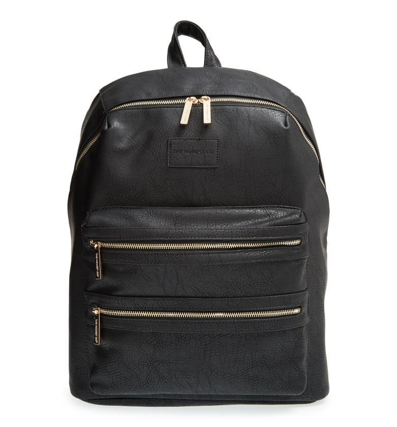 Main Image - The Honest Company 'City' Faux Leather Diaper Backpack