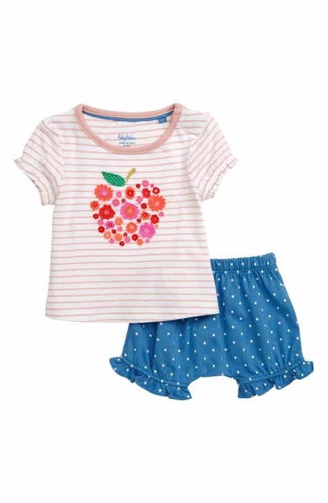 86700aed5 Mini Boden Fluttery Appliqué T-Shirt & Bubble Shorts Set (Baby & Toddler  Girls)