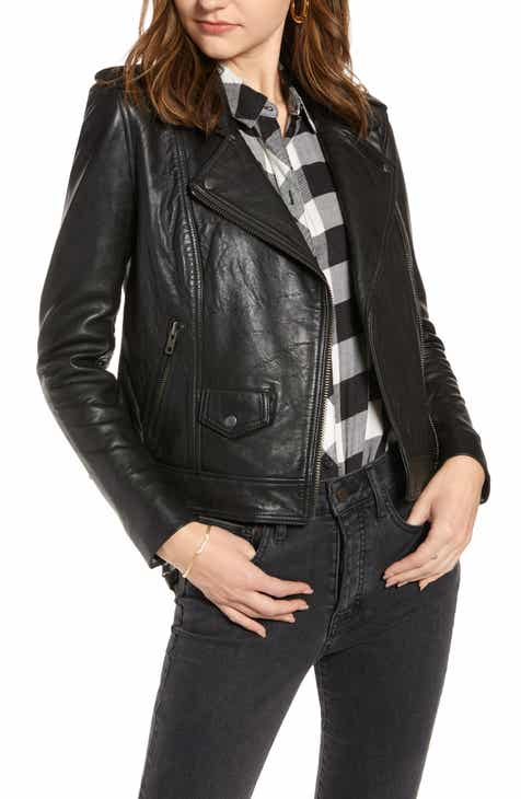 Discount Treasure & Bond Leather Biker Jacket