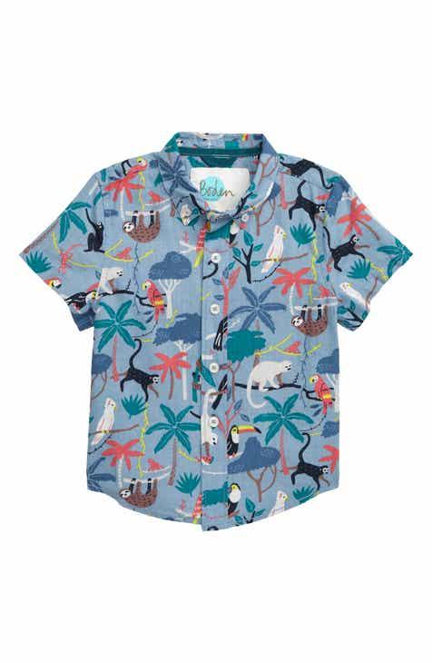 842aa58b1ac0d Mini Boden Fun Print Woven Shirt (Toddler Boys