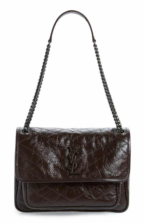97fea7178d1e6d Saint Laurent Medium Niki Leather Shoulder Bag