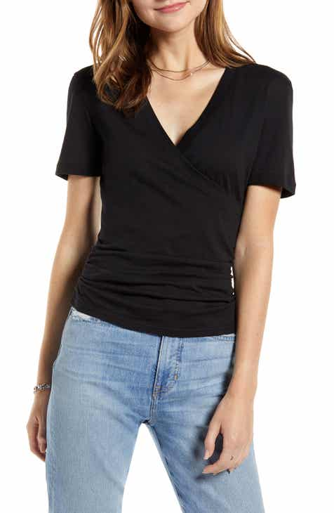 ca35090b69c87c Something Navy Surplice Neck Tee (Nordstrom Exclusive)