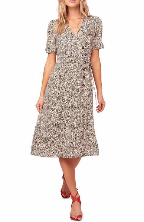 9f3007ebfc8 ASTR the Label Kinsley Micro Print Wrap Dress