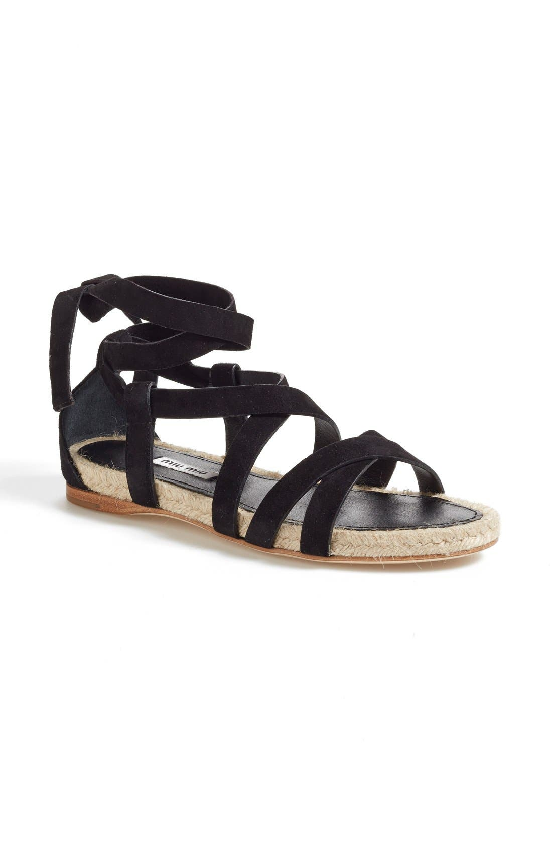 Alternate Image 1 Selected - Miu Miu Espadrille Sandal (Women)