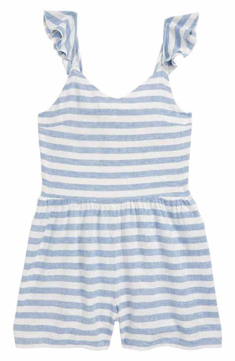 2a24184ef3 Treasure & Bond Ruffle Strap Romper (Big Girls)