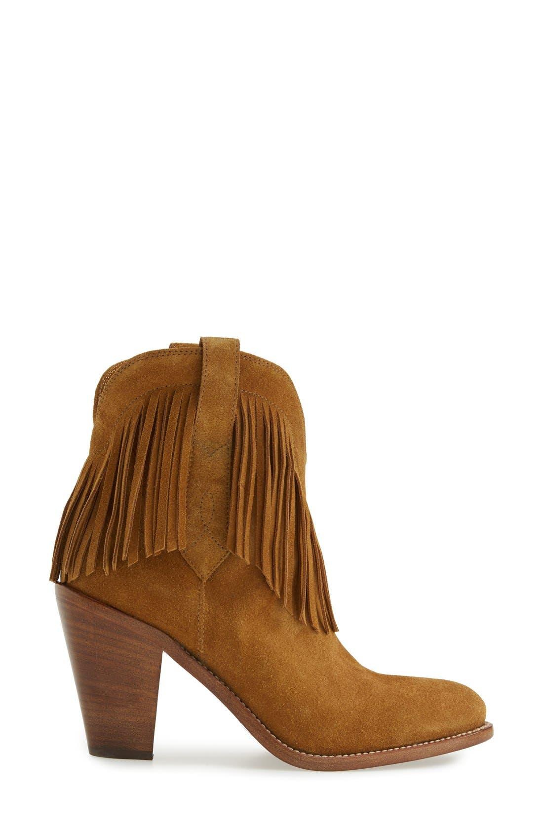 Alternate Image 4  - Saint Laurent 'New Western' Fringe Boot (Women)