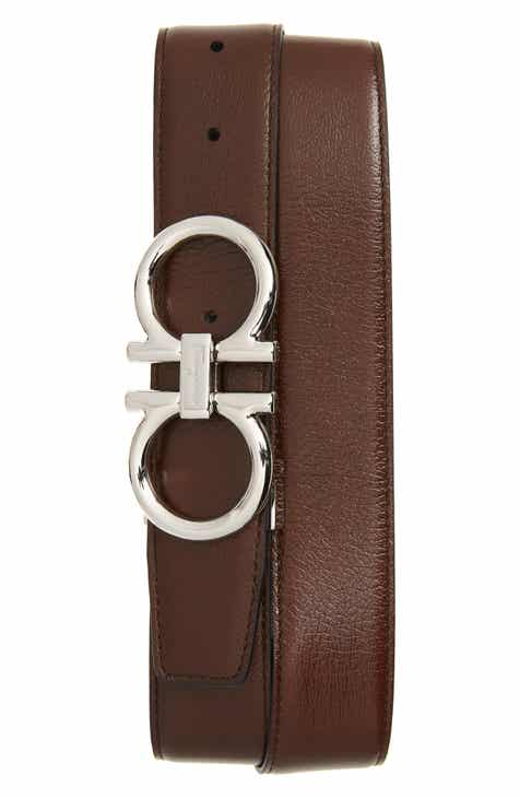 8e198f06aa18 Salvatore Ferragamo Double Gancio Reversible Calfskin Leather Belt