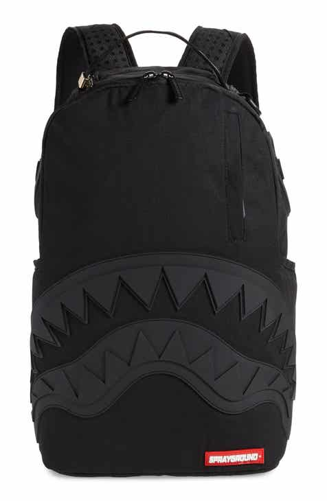 size 40 2eef8 4a264 SPRAYGROUND Ghost Rubber Shark Black Backpack (Kids)