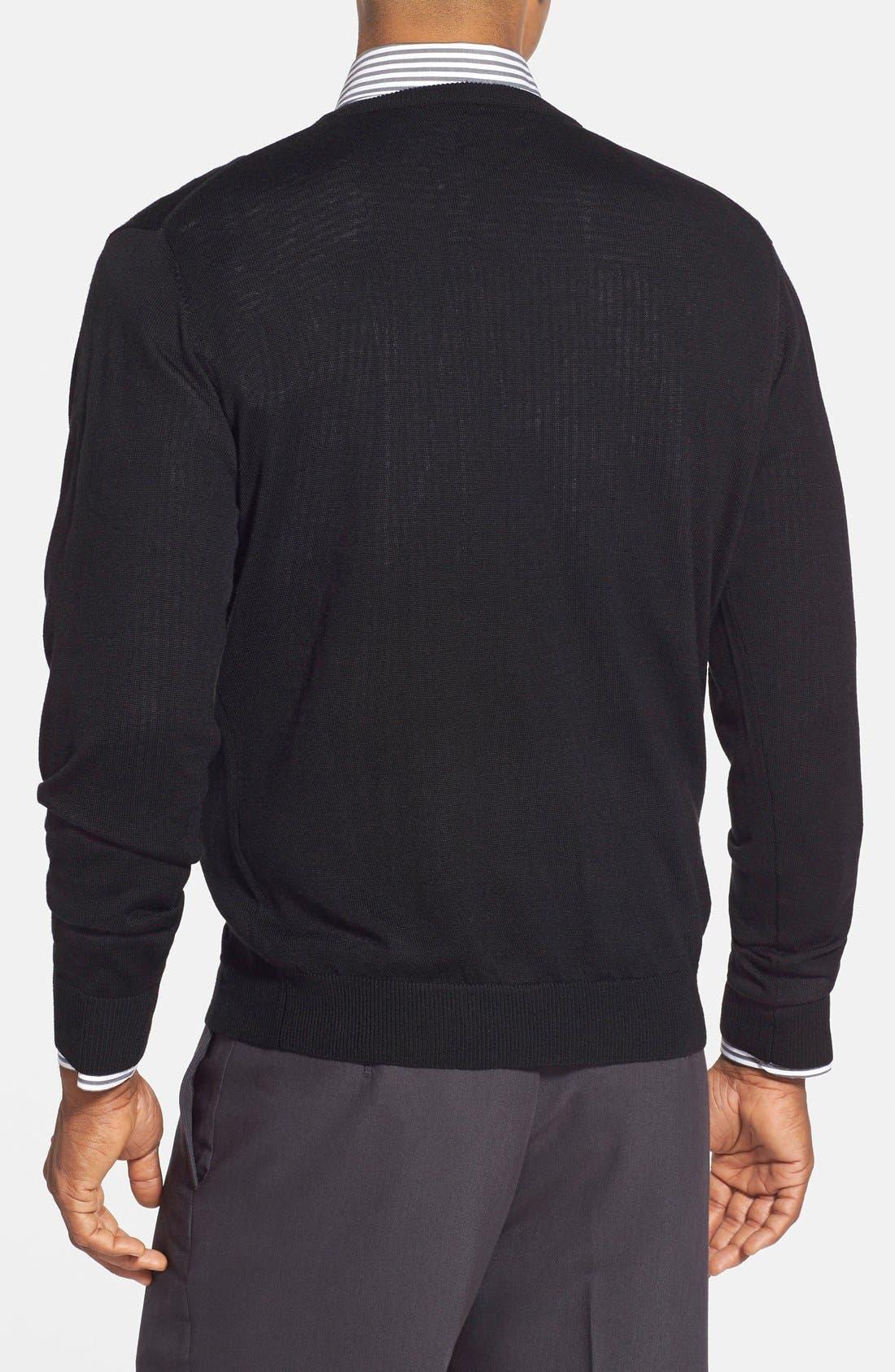 Alternate Image 3  - Cutter & Buck 'Douglas' Merino Wool Blend V-Neck Sweater (Online Only)