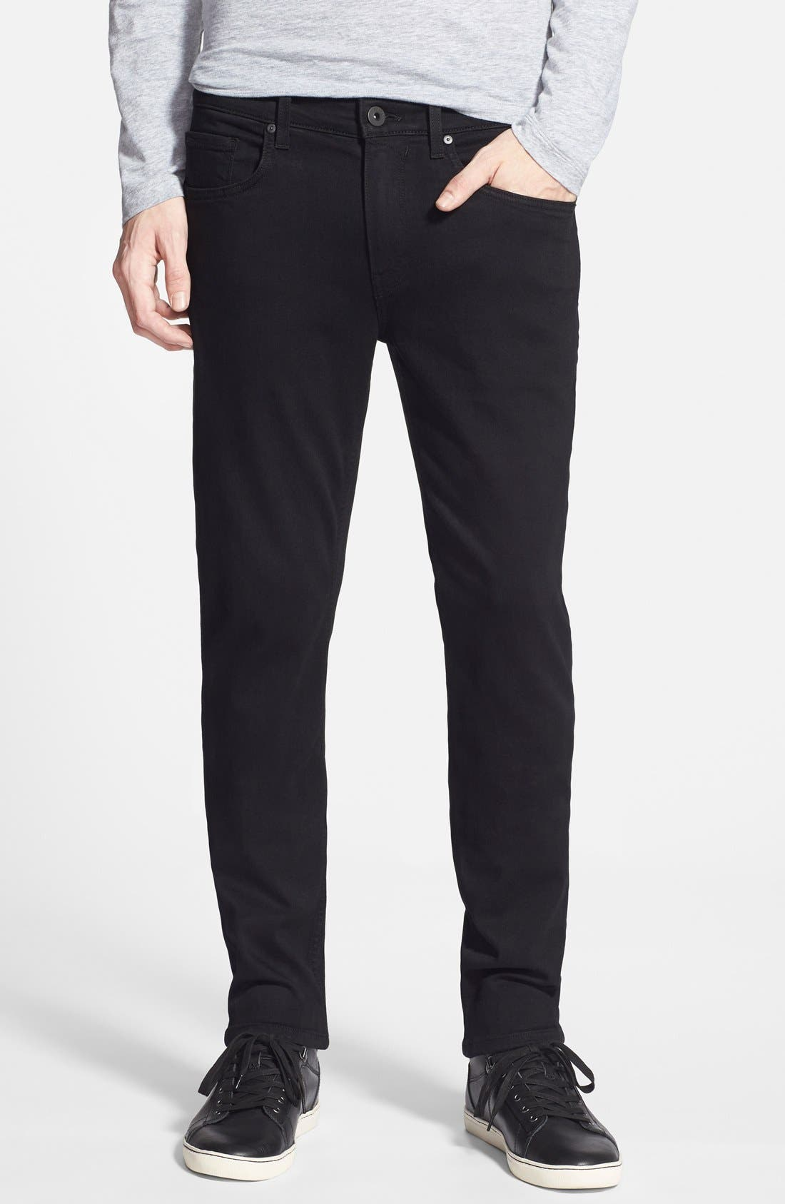 PAIGE Transcend – Lennox Slim Fit Jeans (Black Shadow) | Nordstrom
