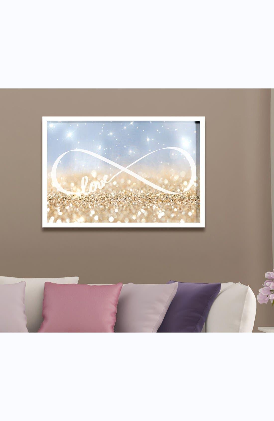 Alternate Image 2  - Oliver Gal 'Sparkle Love' Framed Art Print